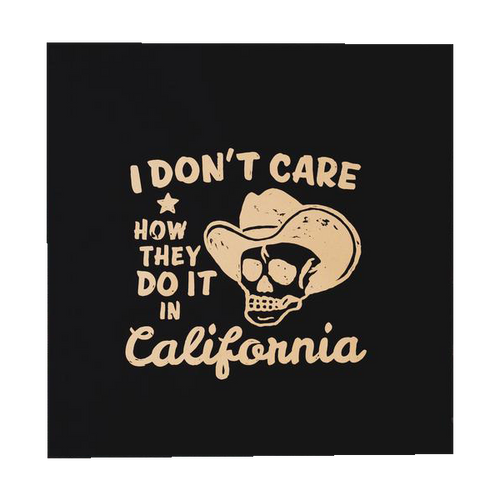 NEW COLORS! Don't Care Back Patch