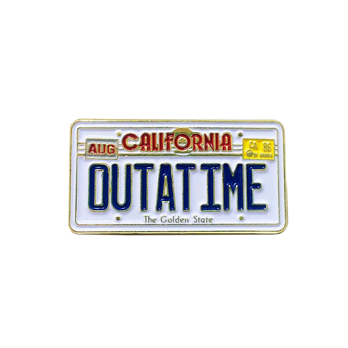 Outatime Pin (Glows in the dark!)