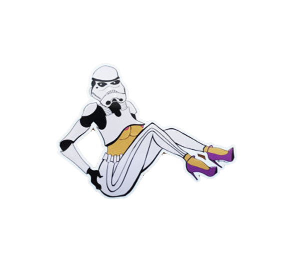 Boob Trooper Sticker