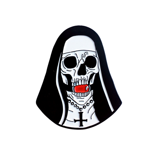 Ball Gag Nun Pin
