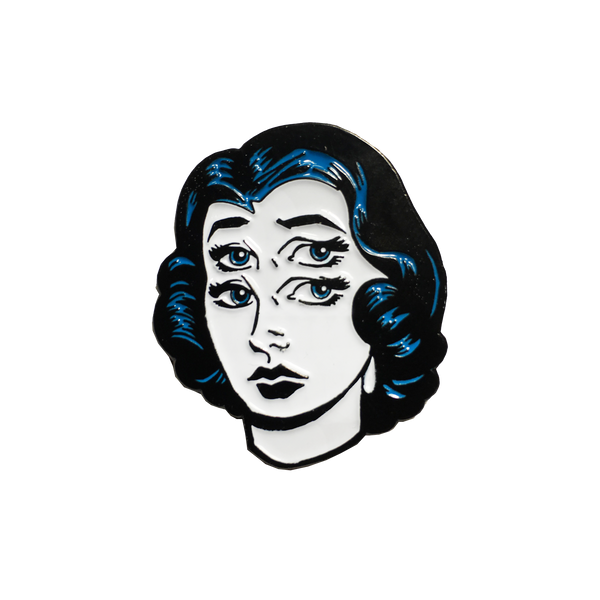 4 Eyed Girl Pin