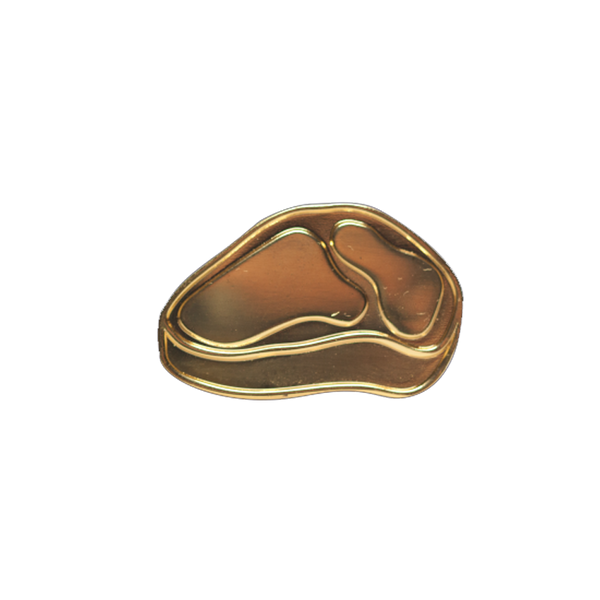 Golden Steak Pin