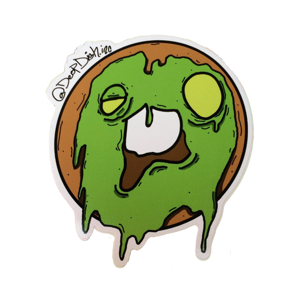 Zombie Donut Sticker