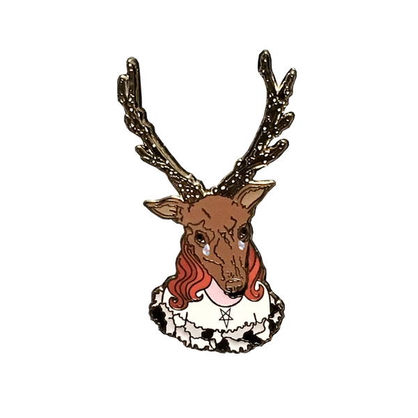 Horned Goddess Pin