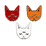 Halloween Three Eyed Cat Pin Set
