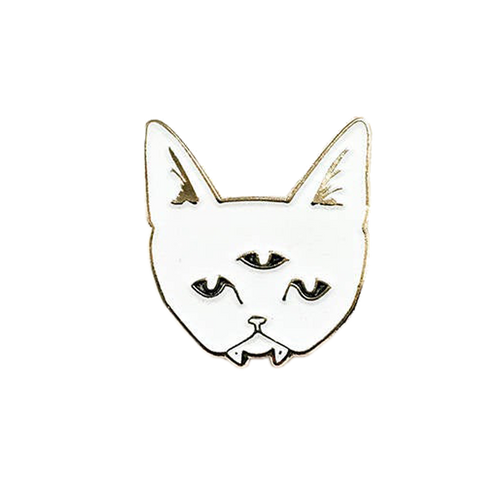 Tiny Three Eyed Cat Pin