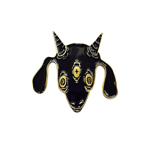 Three Eyed Goat Pin