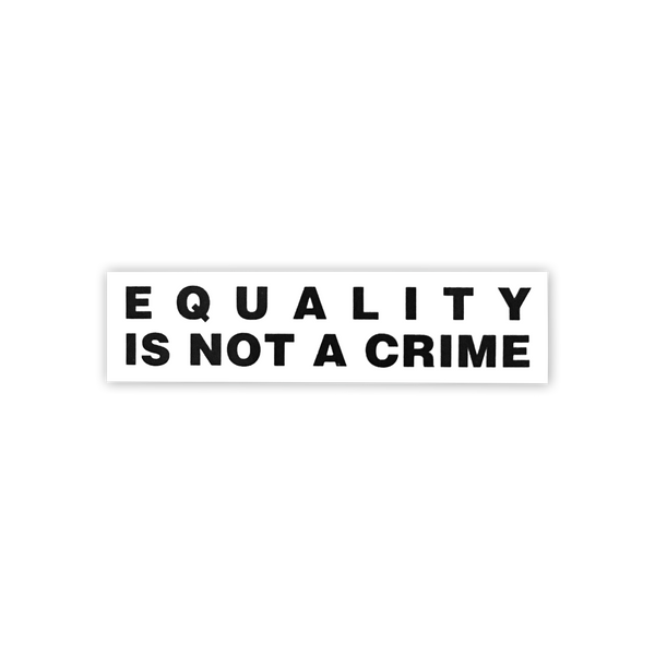Equality is Not a Crime Sticker (Benefits AAPI)