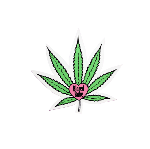 Blazed Babe Sticker