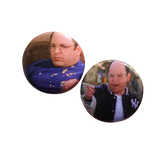 George Constanza Button Set