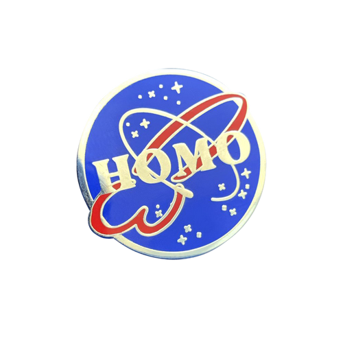 Homo NASA Pin