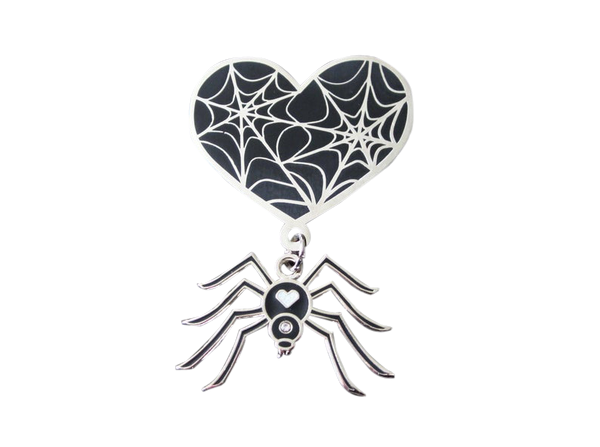 Spider and Web Pin Set