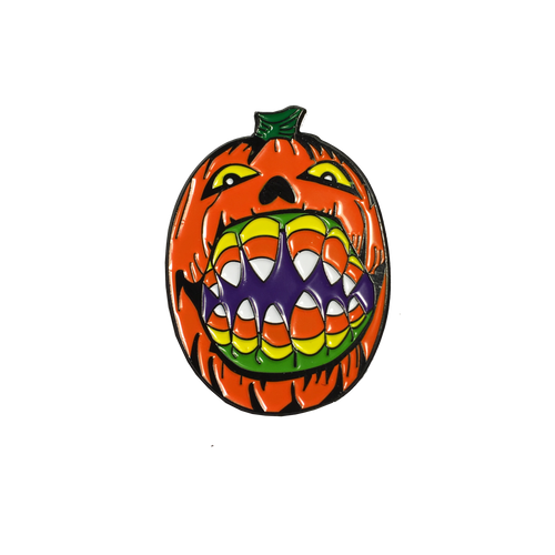 Candy Corn Pumpkin Pin