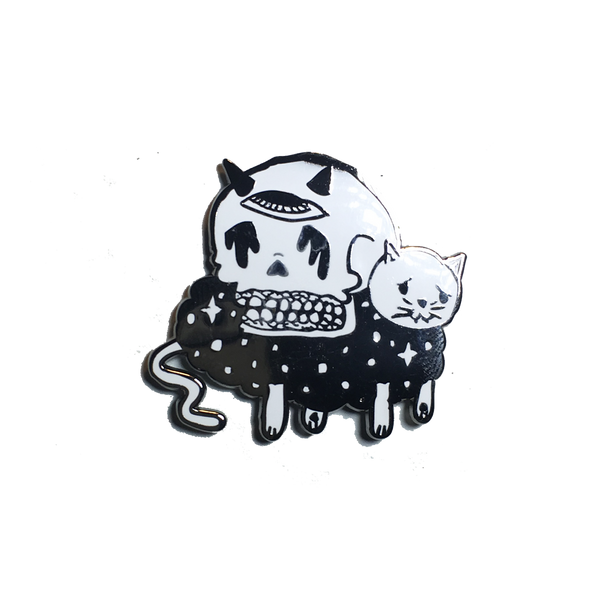 Cats, Death And Space Pin