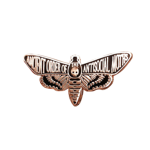 Ancient Order of the Antisocial Moths Pin