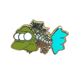 Blinky Skeleton Fish Pin