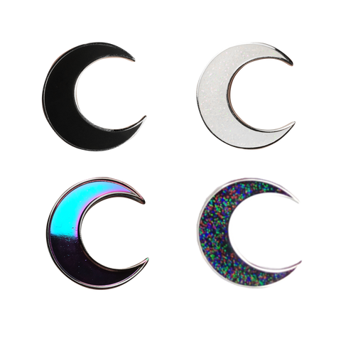 Die Cut Witchy Pin Crescent Moon Moon Child Acrylic Pin