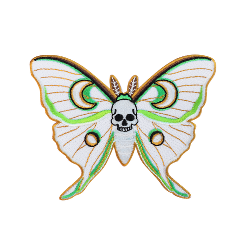 Luna Moth Skull Patch (Glows in the Dark!)