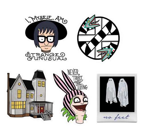 Beetlejuice Bob's Burgers Sticker Pack