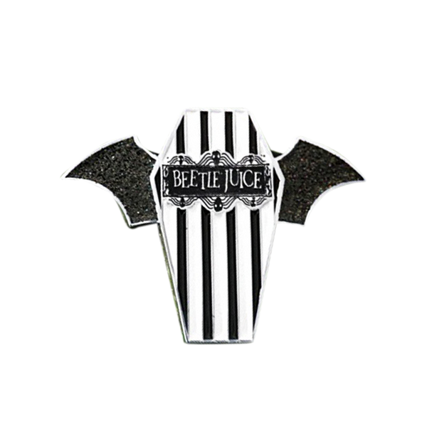 Beetlejuice Coffin Pin