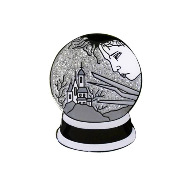 Edward Scissorhands Snow Globe Pin