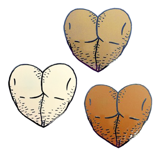 Butt Heart Nude Pin