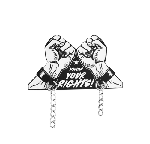 Know Your Rights Pin