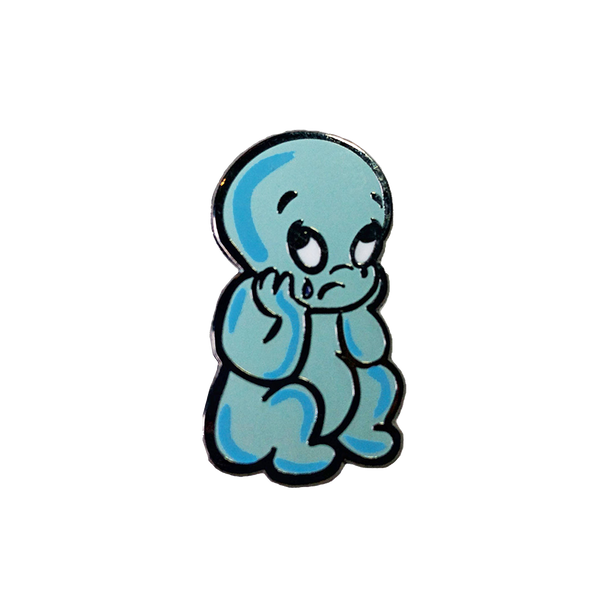 Sad Casper Pin