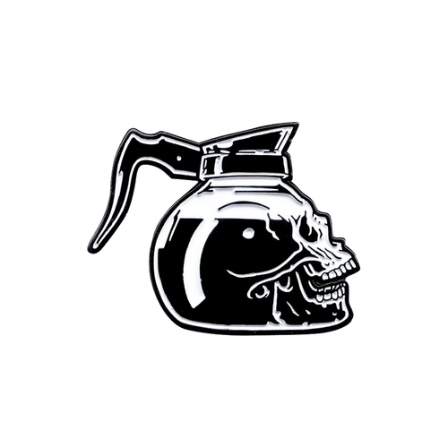 Skull Coffee Pin