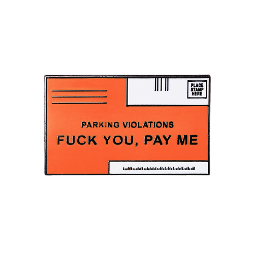Parking Ticket Pin