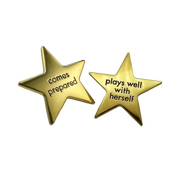 The Over Achiever's Gold Star Pins
