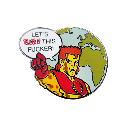 Captain Pollution Pin