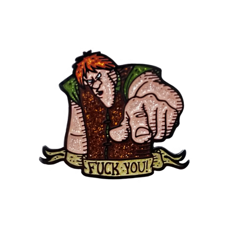 I Wasn't Born with Enough Middle Fingers Pin