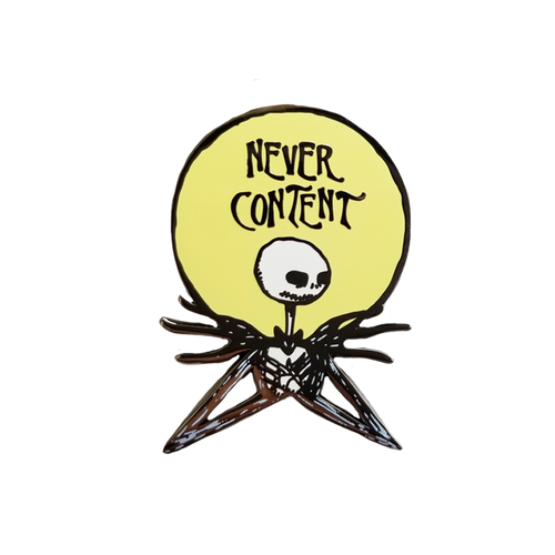 Never Content Jack Skellington Pin