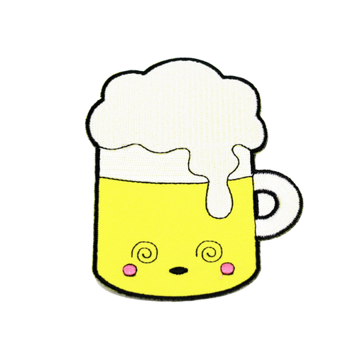 Drunk Beer Kawaii Patch
