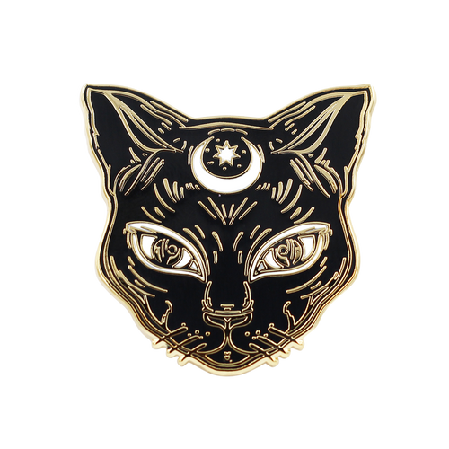 Luna the Black Cat Pin