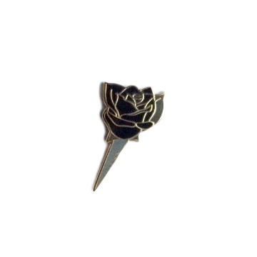 Black Rose Boutonniere Pin