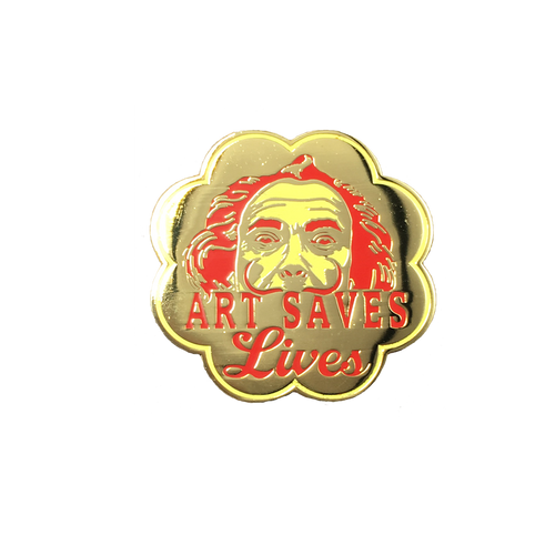 Art Saves Lives Pin