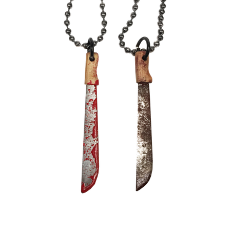 Bloody Butcher Cleaver Necklace