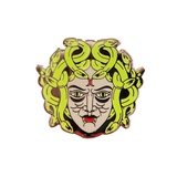 Green Medusa Pin