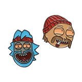 Rick Chong & Morty Cheech Pin Set