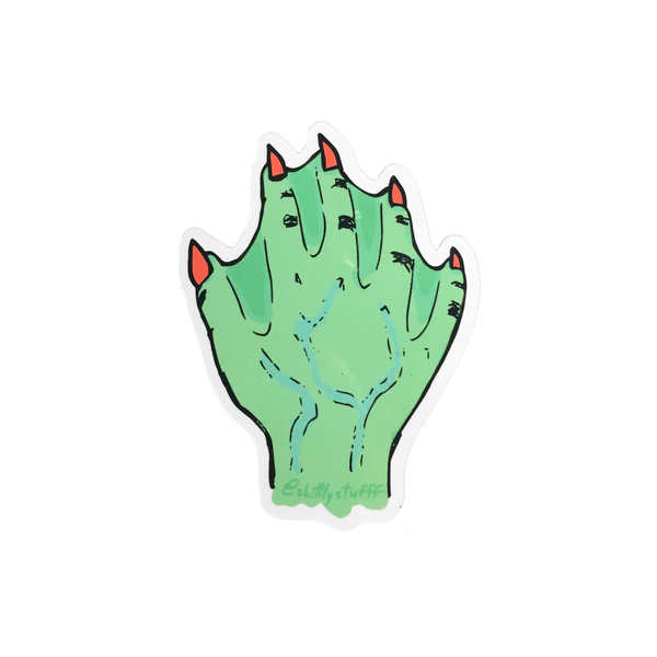 Webbed Hand Sticker