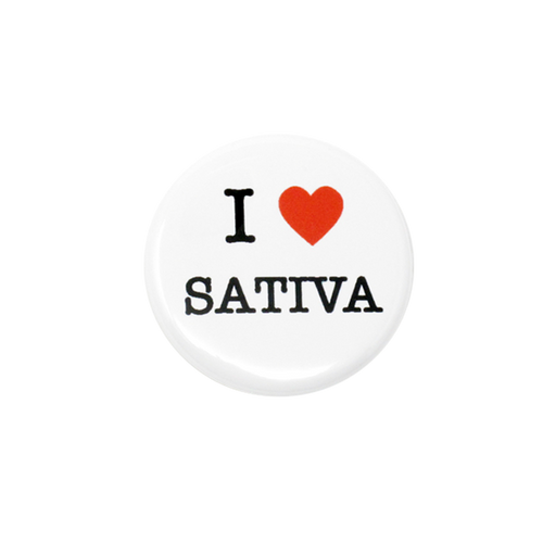 I Heart Sativa Button