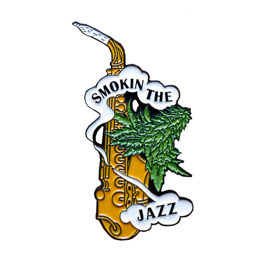 Smoking the Jazz Pin