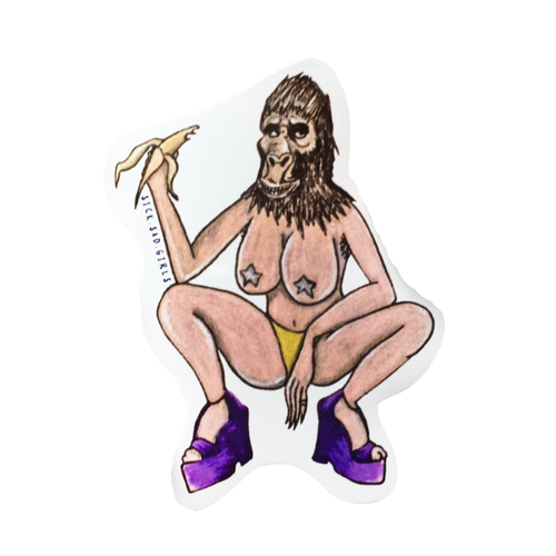 Planet of the Babes Sticker