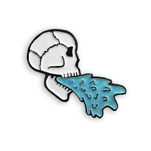 Barfing Skull Pin (Glow in the Dark)