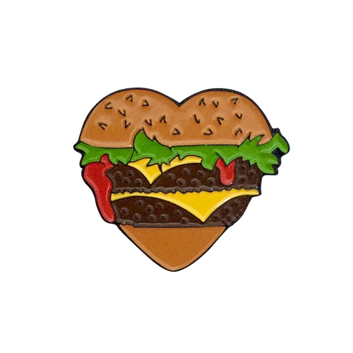 Burger Heart Pin