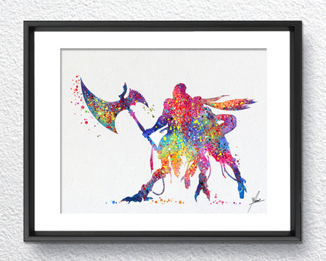 Final Fantasy XIII Video Game, Watercolor Print, Art Wall, Item090