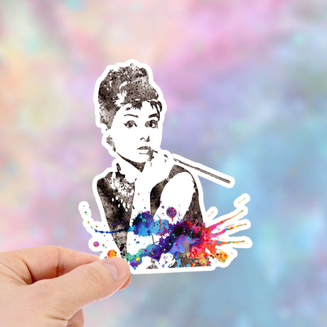 Audrey Hepburn Waterproof Vinyl Sticker, Item452