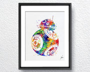 Star Wars BB-8 Watercolor illustrations Wall Art Poster  Wall Decor Art Home Decor Wall Hanging Item 243